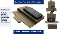 50 cajas carpeta funda para envíos de cartón Ondulado.17x9x1,5cm ENVIO GRATIS