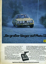 Opel-- Ascona -- Rally Platz 12 -- Dreigang Vollautomatic -- Werbung von 1973 -