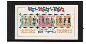 FAROE ISLANDS SC.101 TRADITIONAL COSTUMES S/S MNH BLKPG3