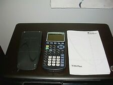 Texas Instruments TI-83 Plus Graphing Calculator + Cover + Instructions