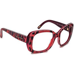 Dolce Gabbana Sunglasses Frame Only DG4101 1752 Red Animal Print Italy 54mm