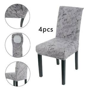 4 Polyester Dining Chair Cover Stretch Seat Cover Party Home Decor