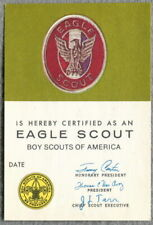 EAGLE SCOUT WALLET CARD, Jimmy Carter, MacAvoy & Tarr Signatures, 1980-81