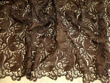 Guipure Lace Fabric - Brown