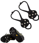 Universal Non-Slip Gripper Spikes Over Shoe Durable Cleats 5 Teeth Studs NEW!