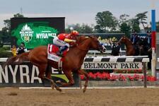 12x18  JUSTIFY Triple Crown Belmont Stakes Photo print for Home Pub Sports Bar