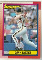 FREE SHIPPING-MINT-1990 Topps #770 Cory Snyder Indians PLUS BONUS CARDS