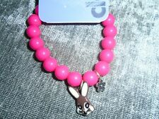 Claire's Girl's Easter Bright Pink Bunny Bracelet