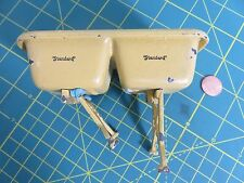 Vintage ARCADE Cast Iron Standard Double Washing SINK Dollhouse Miniature Toy