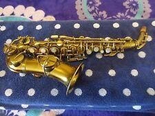 Vintage Wurlitzer curved soprano saxophone made by Martin