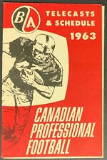 1963 CFL Vintage BA Football Telecasts & Schedule Grey Cup Game Advertisment