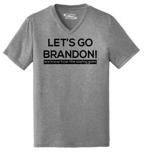 Mens Let's Go Brandon We Know How The Saying Goes Triblend V-Neck Politics