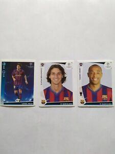 Panini CL 2009/10 Barcelona- Henry, Messi & Ibrahimovic