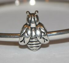 BUMBLE BEE WASP INSECT Silver European Charm
