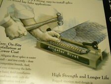 "Round Hay Baler Belt repair rivet 7"" lace Splice  Flexco Alligator ARJ7/175 tool"
