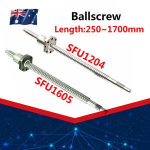 Ball Screw SFU1204 SFU1605 End Machined Ballscrew With Single Ballnut For CNC