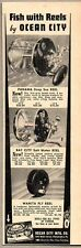 1938 Print Ad Ocean City Fishing Reel Panama,Bay City,Wanita Fly Philadelphia,PA