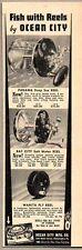1938 Print Ad Ocean City Fishing Reel Panama,Bay City,Wanita Fly Philadelphia,PA