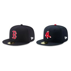 Boston Red Sox BOS MLB Authentic New Era 59FIFTY Fitted Cap - 5950 Hat Navy