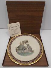 Vintage 1973 Collector'S Plate Lenox Boehm Raccoons Woodland Wildlife