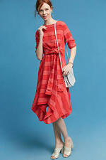 NEW ANTHROPOLOGIE Striped Tie Front Dress 2 XS Extra Small by Eva Franco