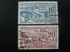 WURTTEMBERG FRENCH OCCUPATION ZONES Mi. #38-39 used stamp set! CV $72.50