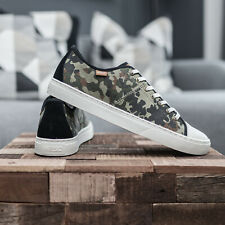 Camo Wesc Low top cap toe mens canvas green trainers sneakers UK 9 - 10 - 11