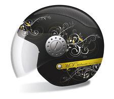 Jethelm Helm MT Helmets Urban II Lady, XXS, Schwarz-Matt, Lüftungsgitter