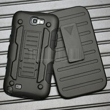 Armor Impact Holster Rugged Hybrid Case Cover for Samsung Galaxy Note II/2 N7100