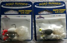 2Pk Road Runner Curly Tail lures 1/8oz Crappie Thunder fishing lures bass trout