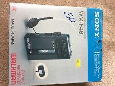 Vintage Sony Walkman WM-F46 In Box With Receipt 1988 AM/FM Cassette