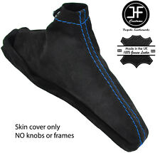 BLUE STITCH REAL SUEDE HANDBRAKE BOOT FITS SUBARU FORESTER 2002-2008