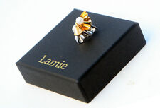 Earcuff single pierce  in silver and gold plated with a real pearl  by LAMIE