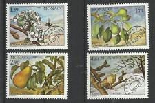 Monaco Préo** YT 102/105  arbre flore fruits poirier poires