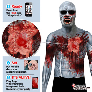 SALE Digital Morphsuit Beating Heart Zombie Halloween Costume Size XL Morphsuits