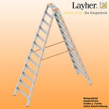 Layher Alu Stufenstehleiter, 2x12 Stuf., L=3,00m, Bockleiter,Topic Typ 1043.012