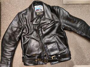 "Aero Leather Slim Fit Motorcycle Jacket, Black CXFQHH, 40"","