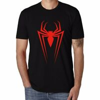 Spider Man Icon Printed Men's T-shirts Funny Cotton Short Sleeve Boy Top Tees