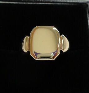 Fine Vintage c.1946 Signet Ring 375 (9ct) Yellow Gold - Size O (US 7)
