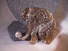 Incredible Elephant Brooch Rhinestone Costume Jewelry Heaven Box B