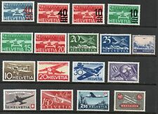 Switzerland 1923- Aviation Collection of 17.MLH.Very Fine.
