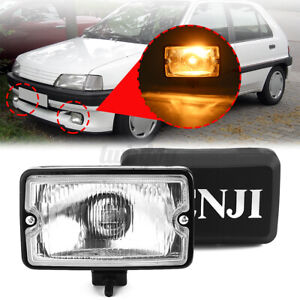 Front Bumper Fog Light Lamp H3 Bulb For PEUGEOT 205 GTI CTI 106 306  **/
