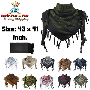 Unisex Military Arab Tactical Desert Neck Scarf Head Wrap Grand Cotton Shemagh
