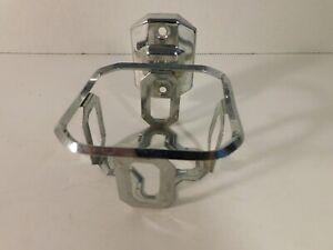 "Vintage Chrome Wall Mount Bathroom Glass Holder - 4"" Square"