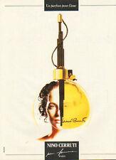 Publicité Advertising  ...parfum NINO CERRUTI pour femme