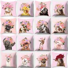 Animal Flower Throw Waist Pillow Case Cushion Cover Sofa Soft  Home Decor 18''