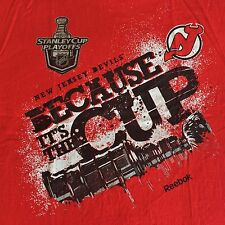New Jersey Devils Vintage 2012 Stanley Cup Playoffs NHL Hockey T-Shirt L