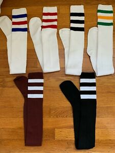 Vtg. American Apparel Thigh High Socks Polyester-Assorted Stripes New Old Stock