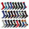 Mens Combed Cotton Socks Novelty Animal Dinosaur Cactus Penguin Funny Dress Sock