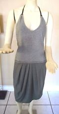 Brunello Cucinelli Gray Wool Halter Dress Size 8